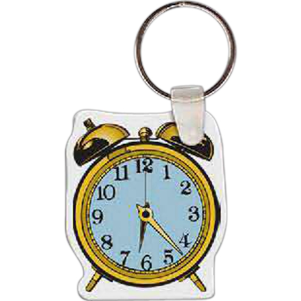 "Alarm Clock Shaped Key Tag, 1.69"" W X 1.99"" H Photo"