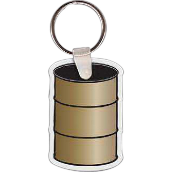 "Barrel Shaped Key Tag, 1.42"" W X 2.15"" H Photo"