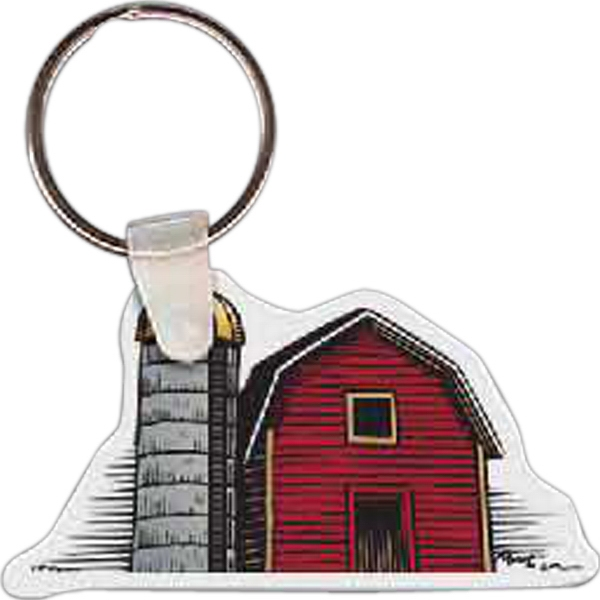 "Barn Shaped Key Tag, 2.5"" W X 1.39"" H Photo"