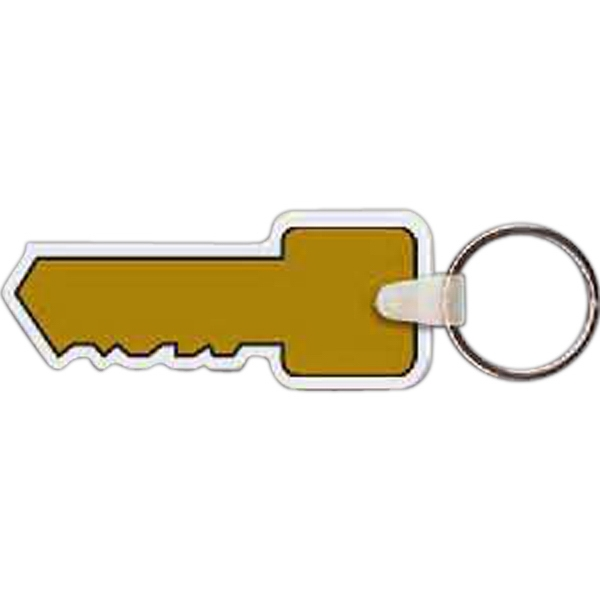 "2.85"" X 1.19"" - Key Shaped Key Tag Photo"