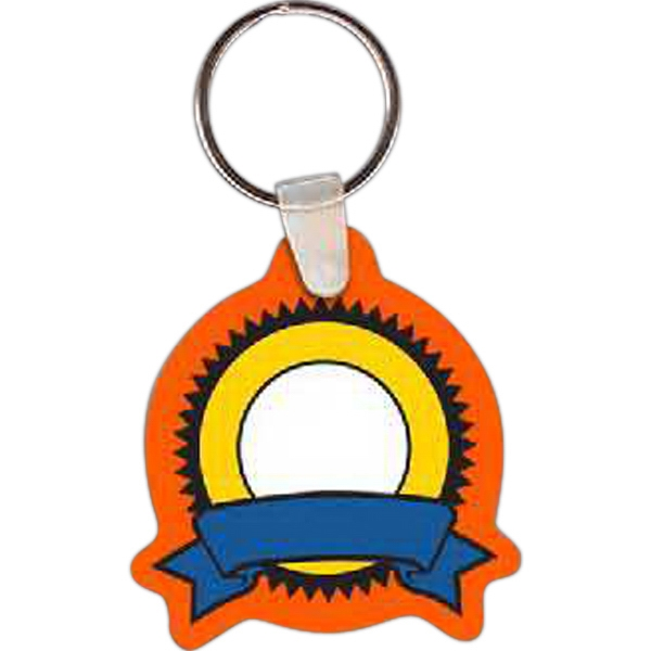 "1.99"" X 2.16"" - Ribbon Shape Key Tag Photo"
