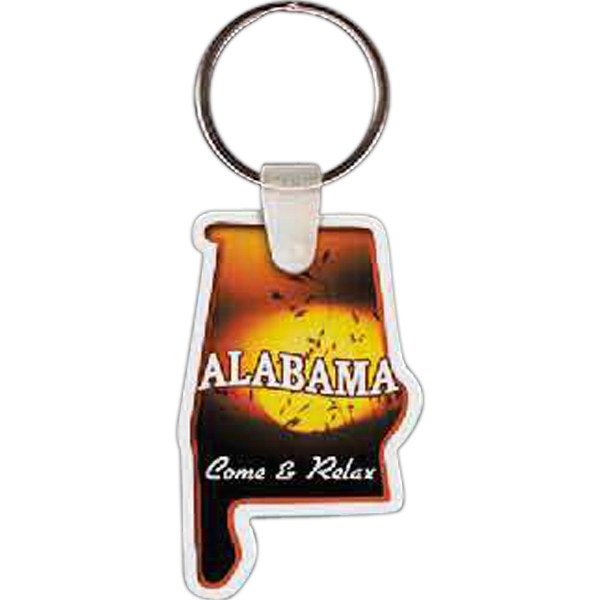 "Alabama Shape Key Tag, 1.34"" X 2.15"" Photo"