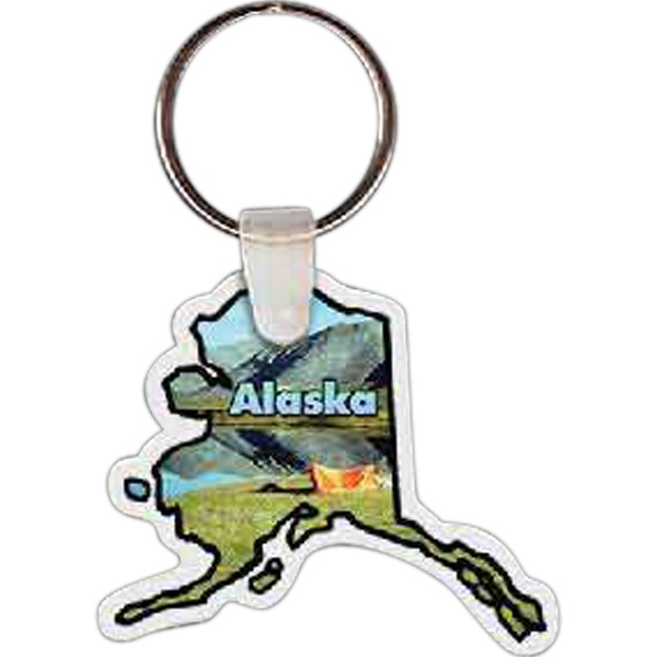 "Alaska Shape Key Tag, 2.04"" X 1.73"" Photo"