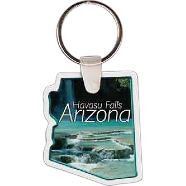 "Arizona Shape Key Tag, 1.60"" X 1.84"" Photo"