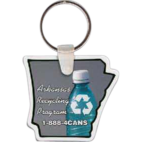 "Arkansas Shape Key Tag, 1.93"" X 1.75"" Photo"
