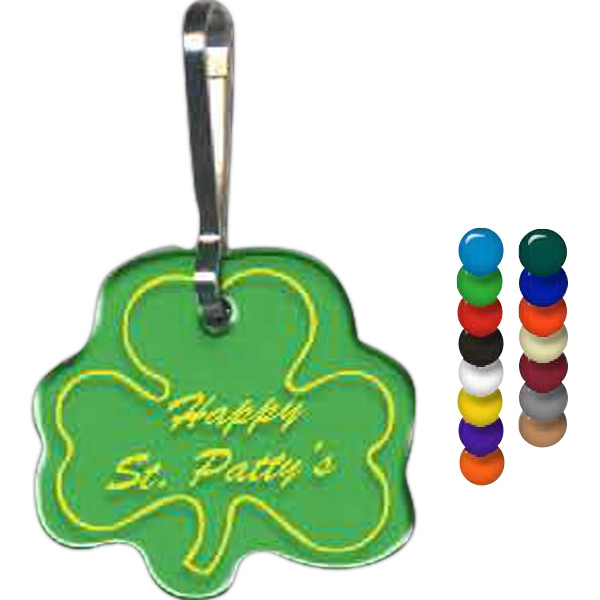 "Shamrock Shape Zippy Clip, 1.1"" X 1.03"" Photo"