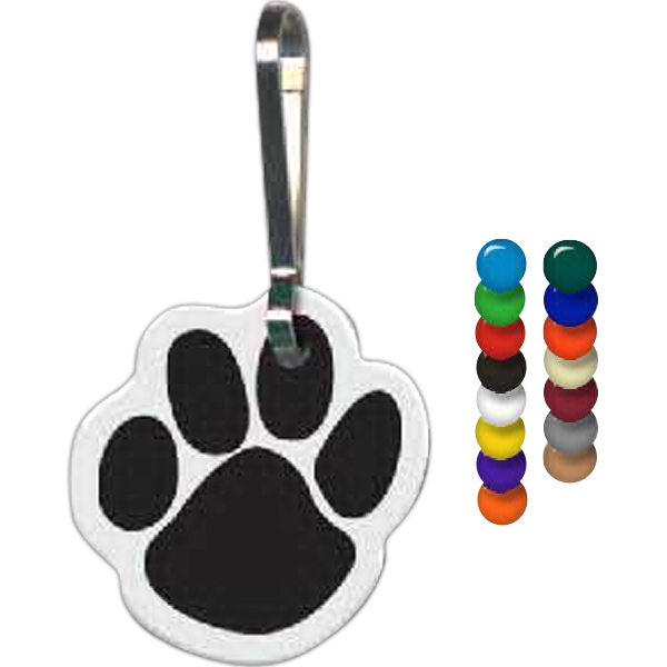"Paw Shape Zippy Clip, 0.95"" X 0.99"" Photo"