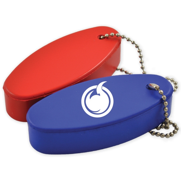 Keychain Float - Keychain float packaged in a sealed individual polybag with bead chain attached.