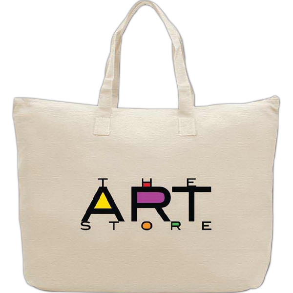 100% Cotton Tote Bag with zipper