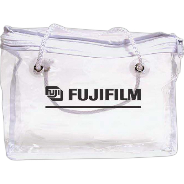 Clear Vinyl Zippered Bag