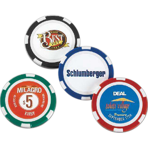 "Chip - 2 Hour Rush Service - High Quality, Standard 1/8"" Thick And Heavy .4 Oz. Poker Chip Photo"