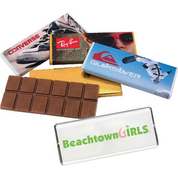 Eros - 1 Day Rush Service - Custom Chocolate Bars And White Wrappers. Kosher Product Photo