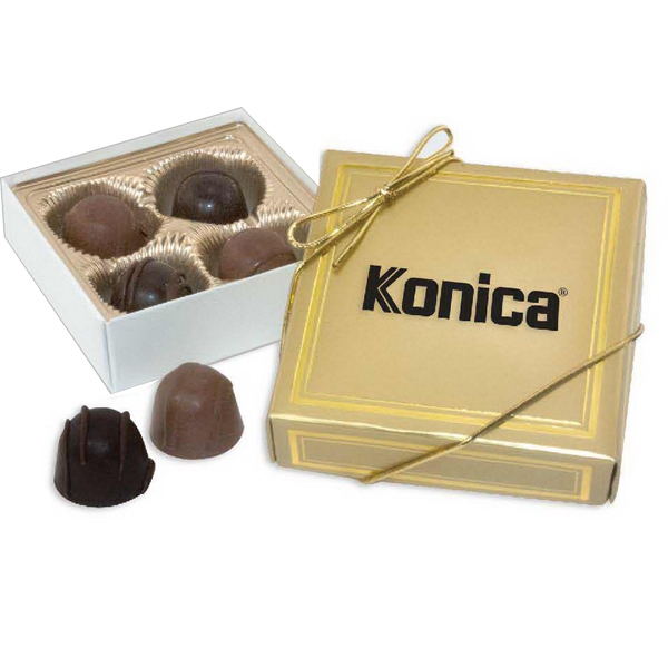 Bach - 3 Day Rush Service - Four Piece Gift Box - Gift Box Featuring Delicious Truffle Selection. Kosher Product Photo