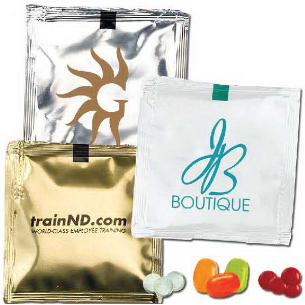 1 Day Rush Service - Custom Candy Packets With Mints In Opaque, Solid Color Packet Photo