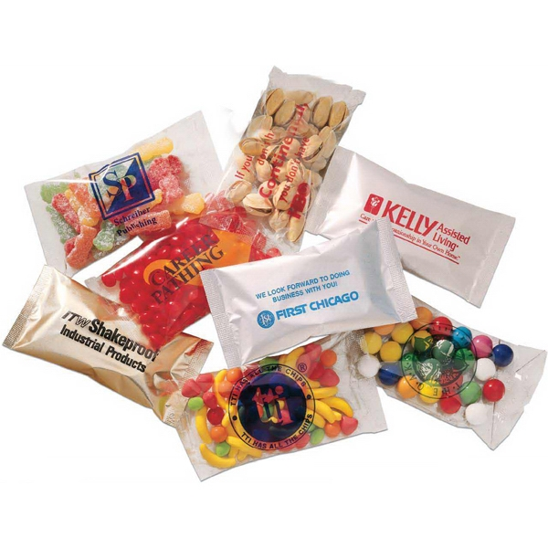 Profit - 3 Day Rush Service - Your Name Or Logo On This 1 Oz. Bag Filled With Gourmet Chocolate Covered Peanuts Photo