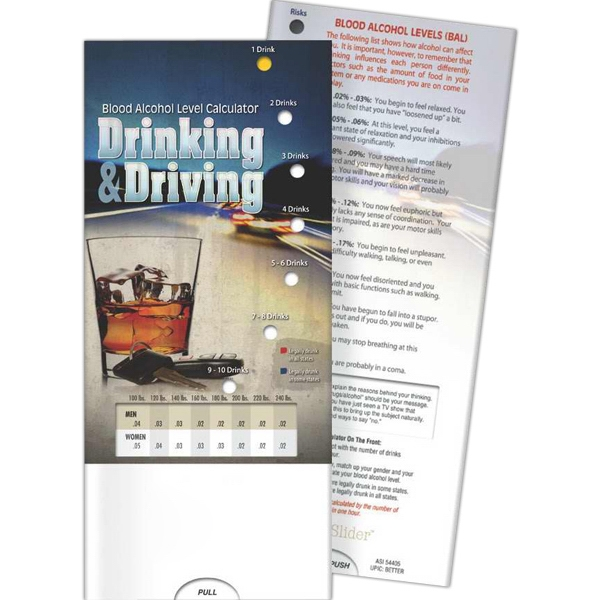 Pocket Slider - Drinking and Driving: Blood Alcohol Level Ca