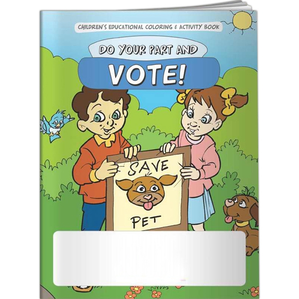 Coloring Book - Do Your Part & Vote - Coloring Book - Do Your Part & Vote