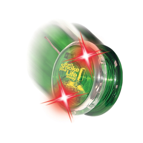 Twirlglo Yo-yoz (tm) - Green/red Leds - Light Up Yo-yo With One Colored Side And One Clear Side Photo