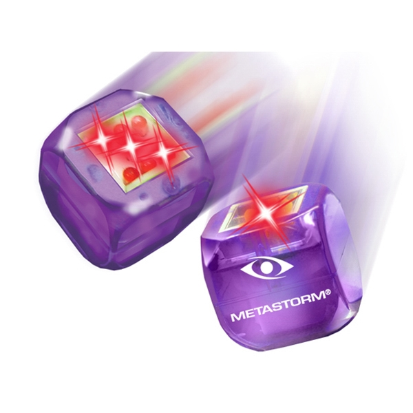 Buzdice (tm) - Purple - Electronic Light Up Dice, Tap Or Roll And A Number Is Randomly Selected Photo