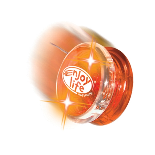 Twirlglo Yo-yoz (tm) - Orange/orange Leds - Light Up Yo-yo With One Colored Side And One Clear Side Photo