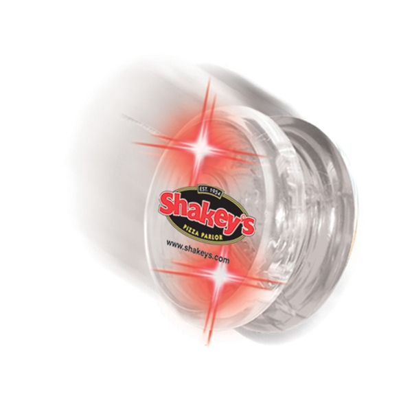 Twirlglo Yo-yoz (tm) - Clear/red Leds - Light Up Yo-yo With One Colored Side And One Clear Side Photo