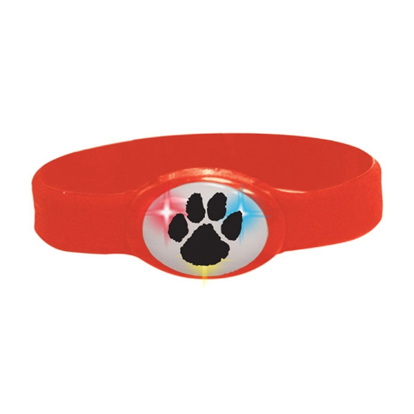 Buzbracelet (tm) - Red - Flashing Bracelet With Durable Silicone Band Photo