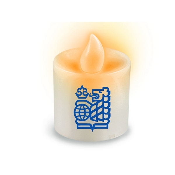 Votive Led Candle With Flickering Amber Flame Photo