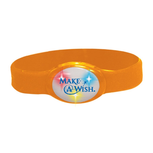 Buzbracelet (tm) - Orange - Flashing Bracelet With Durable Silicone Band Photo