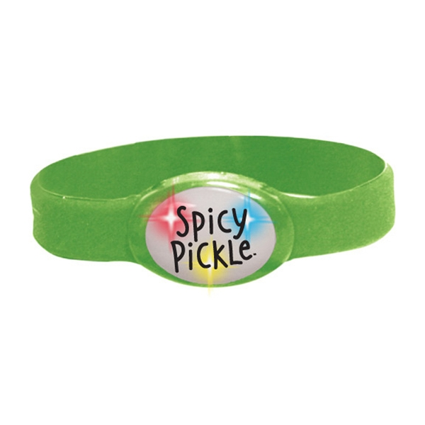 Buzbracelet (tm) - Green - Flashing Bracelet With Durable Silicone Band Photo