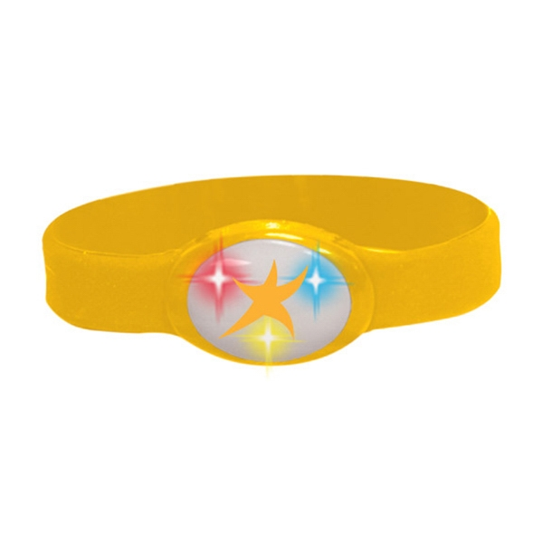 Buzbracelet (tm) - Yellow - Flashing Bracelet With Durable Silicone Band Photo