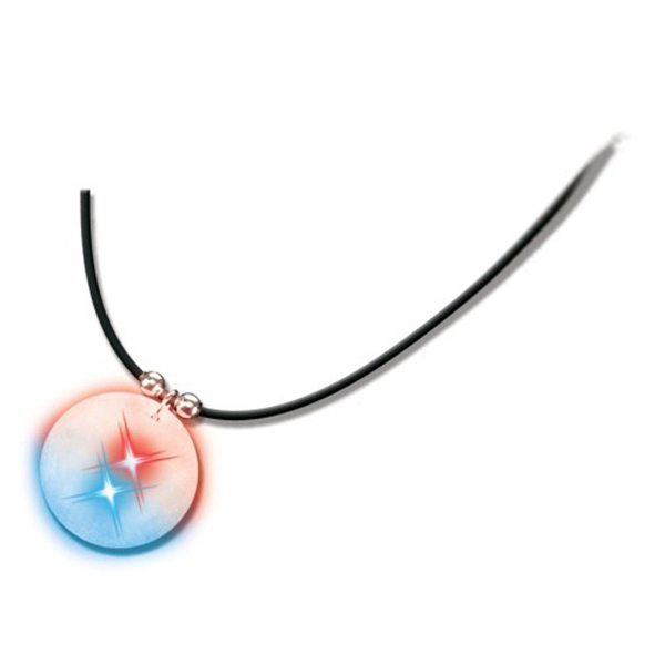 Clingonz (tm) - Frosted Pendant Necklace With Flashing Led's Features A Black Cord Photo