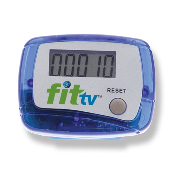 Blue - Digital Read Display Pedometer With Step Count Up To 99,999 - Push Button Reset Photo
