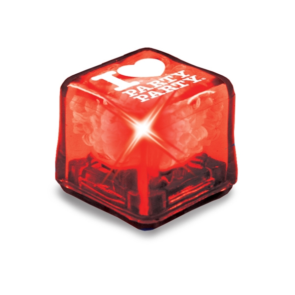 Ultraglow - Red/red Led - Ice Cube With Color Led Photo