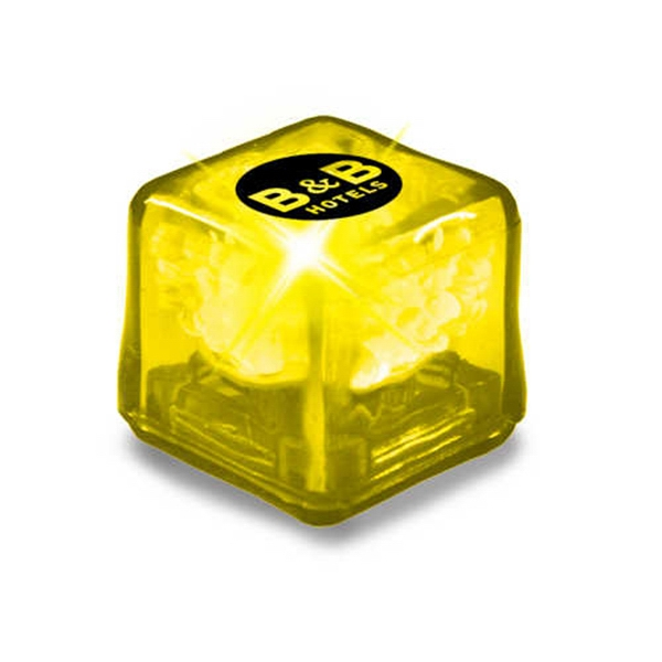 Ultraglow - Yellow/yellow Led - Ice Cube With Color Led Photo