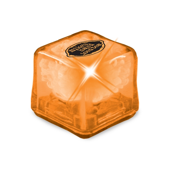 Ultraglow - Orange/orange Led - Ice Cube With Color Led Photo