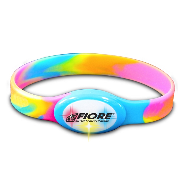 Buzbracelet (tm) - Tie Dye - Flashing Bracelet With Durable Silicone Band Photo
