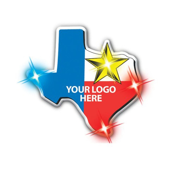 Clingonz (tm) - Texas - Led Button With Butterfly Clasp Photo