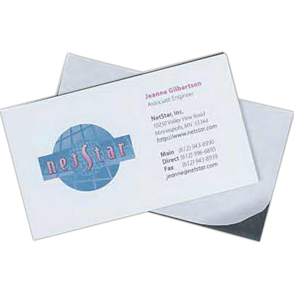 Make-a-magnet - 35 Mil - Flexible Magnet With Adhesive Surface For Application Of Business Card. Blank Photo