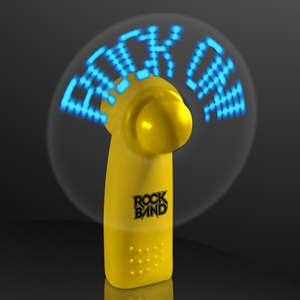 Yellow Preprogrammed Message Fans with Blue LEDs