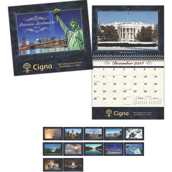 Coronado Collection Patriotic Landmark Wall Calendar