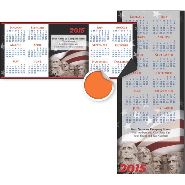 Economy Collection Patriotic - Vertical Calendar With Full Magnetic Backing Photo