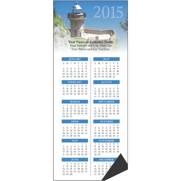 Economy Collection Lighthouse - Magnetic Calendar With Full Magnetic Backing Photo
