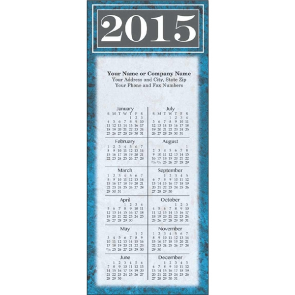 Economy Collection Marble - Calendar With Full Magnetic Backing And Full 12 Month View Photo