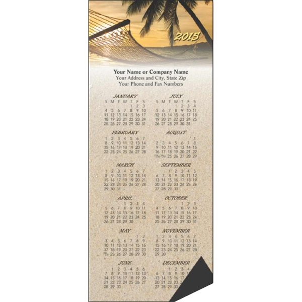 Economy Collection Sunset - Calendar With Full Magnetic Backing, 12 Month View Photo