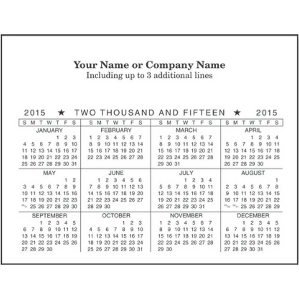 Economy Collection - Horizontal Magnetic Calendar With Full Magnetic Backing Photo