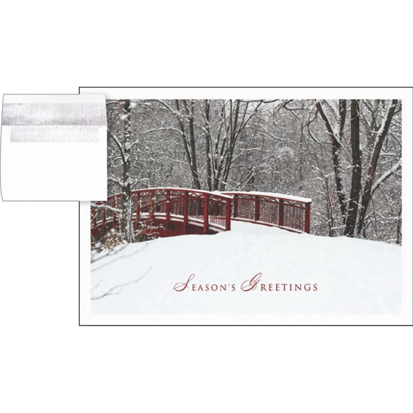 "Greeting Card With ""season's Greetings"" On The Front Photo"