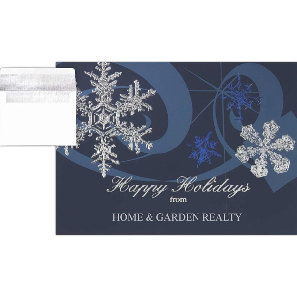 Greeting Card With Snowflakes On The Front Photo