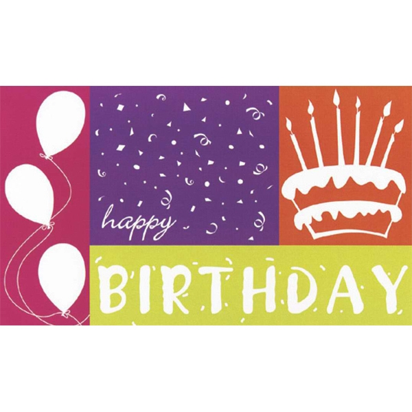 "Greeting Card With ""happy Birthday"" And Cake Design On The Front Photo"