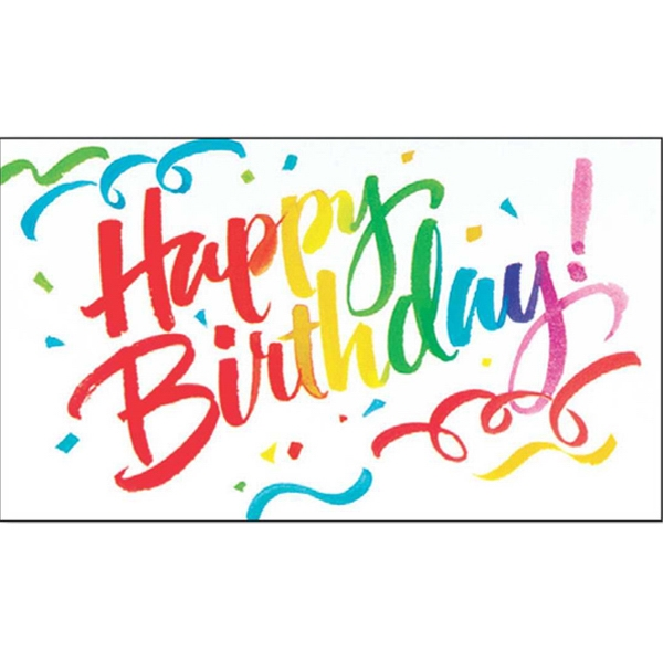 "Greeting Card With ""happy Birthday And Confetti Design On The Front Photo"