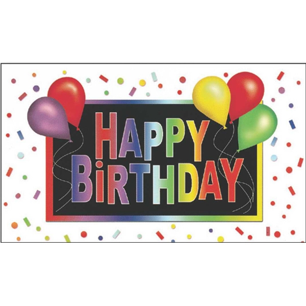 "Greeting Card With ""happy Birthday"" And Balloon Design On The Front Photo"
